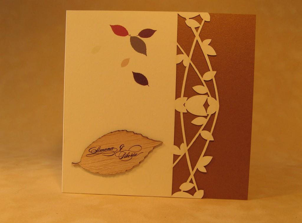Invitatii cu frunze de toamna