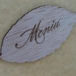 Frunza lemn decupata si gravata