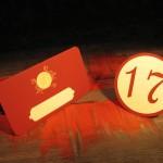 Placecard si numar masa decupate