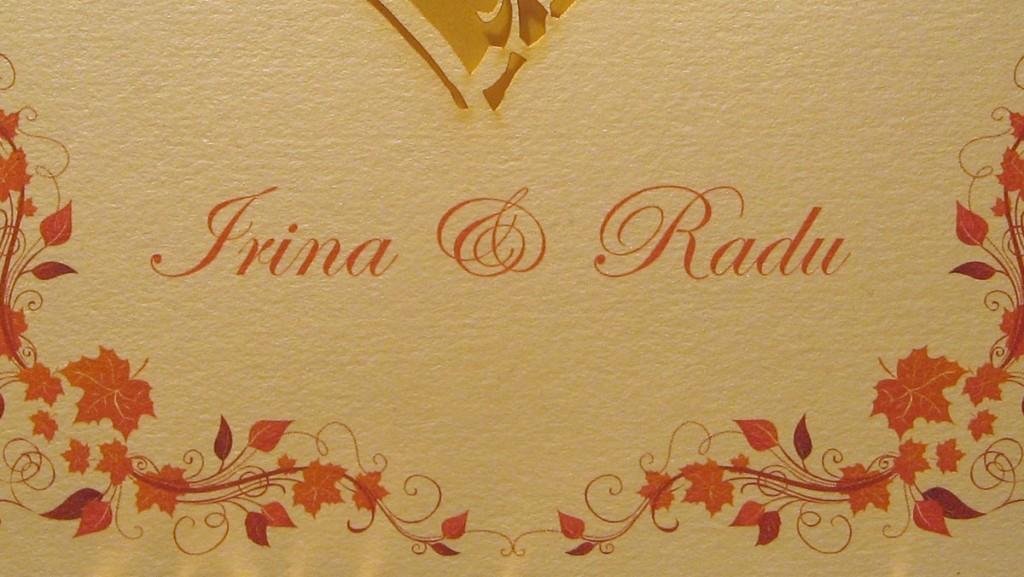 Invitatie nunta vintage toamna